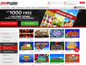 Red Flush Casino Screenshot #1