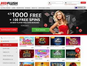 Red Flush Casino Screenshot #1
