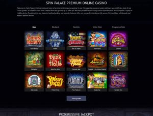 Spin Palace Casino Screenshot #1