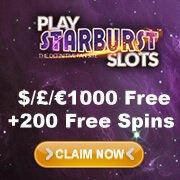 Starburst Slots Sidebar Bonus